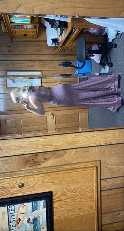 Jovani Light Purple Size 6 Mermaid Short Height Straight Dress on Queenly