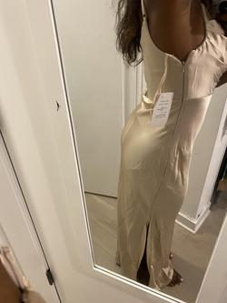 Revelry Nude Size 2 Bridesmaid Side slit Dress on Queenly