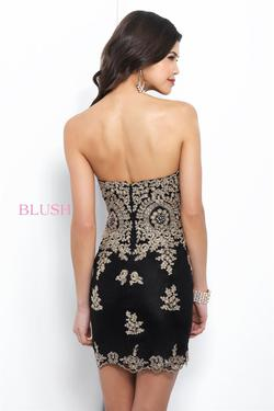 Blush Prom  Black Size 4 Mini Jewelled Embroidery Backless Straight Dress on Queenly