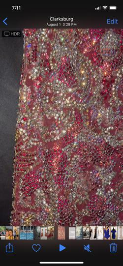 Sherri Hill Red Size 4 Silver Burgundy Train Dress on Queenly