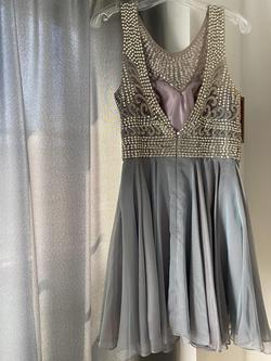 Silver Size 8 A-line Dress on Queenly