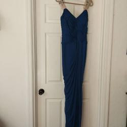 Adrianna Papell Blue Size 6 Teal Sequin Straight Dress on Queenly