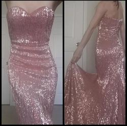 Portia & Scarlett Pink Size 0 Bridesmaid Jewelled Sequin Wedding Guest Train Dress on Queenly