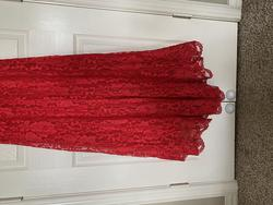 Mori Lee floor length gown Red Size 0 Mini One Shoulder Jewelled Straight Dress on Queenly