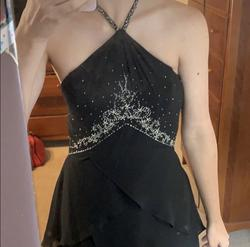 Dessy collection Black Size 2 Homecoming Beaded Top Bridesmaid Straight Dress on Queenly