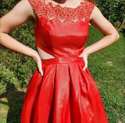 Sherri Hill 9756 Red Size 4 Homecoming Cocktail Dress on Queenly