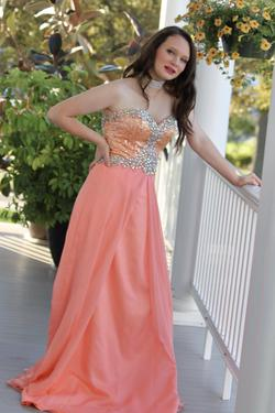 MacDuggal Orange Size 4 Beaded Top Pageant A-line Dress on Queenly