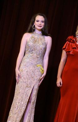 Sherri Hill Gold Size 2 Fully-beaded High Neck Pageant Side slit Dress on Queenly