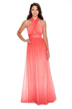 Style 183099 Decode  Orange Size 2 Ombre A-line Dress on Queenly