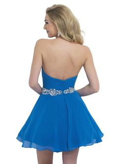Style 10059 Blush Prom  Blue Size 12 Plus Size Backless Flare A-line Dress on Queenly