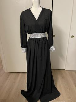 Black Size 8 A-line Dress on Queenly