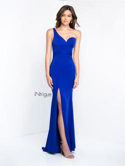 Style 453 Blush Prom  Blue Size 0 Wedding Guest One Shoulder Side slit Dress on Queenly