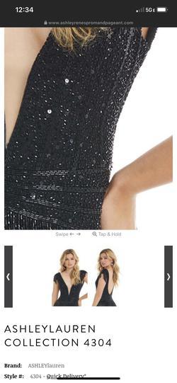 Ashley Lauren Black Size 6 Fringe Cocktail Dress on Queenly