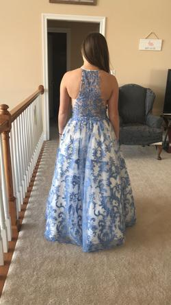 Sherri Hill Multicolor Size 8 Halter Ball gown on Queenly