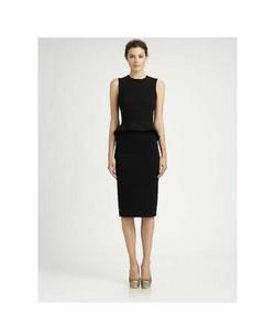 Stella McCartney Black Size 8 Straight Interview Sorority Formal Cocktail Dress on Queenly