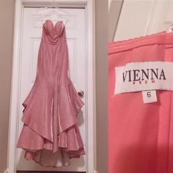 Vienna Pink Size 6 Pageant Ruffles Jewelled Mermaid Dress on Queenly