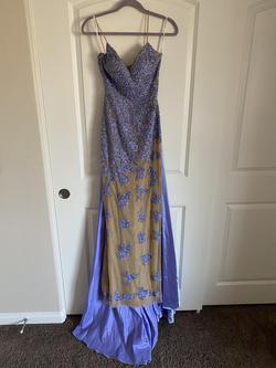 Sherri Hill Purple Size 0 Pageant Jewelled Straight Dress on Queenly