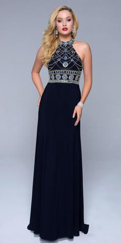 Style 1238 Nina Canacci Blue Size 0 Wedding Guest Straight Dress on Queenly