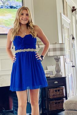 Blue Size 6 A-line Dress on Queenly