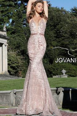Jovani Pink Size 6 Lace Embroidery Mermaid Dress on Queenly