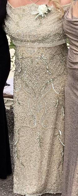Aiden mattox Gold Size 10 Straight Dress on Queenly