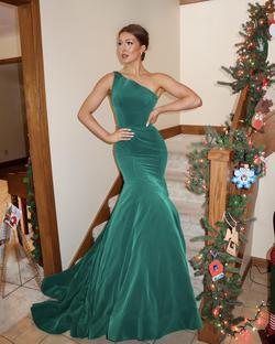 Sherri Hill Green Size 4 Mermaid Dress on Queenly