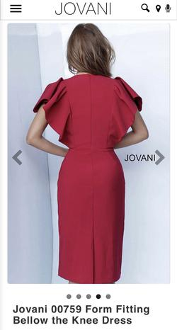 Jovani Red Size 4 Polyester Burgundy Cocktail Dress on Queenly