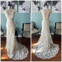 Allure Bridals White Size 2 Train Pageant Mermaid Dress on Queenly