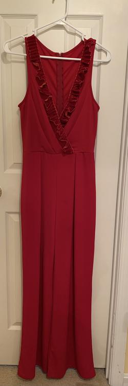 Red Size 6 Jumpsuit Dress on Queenly