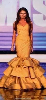 Fernando Wong Yellow Size 0 Train Pageant Short Height Mermaid Dress on Queenly