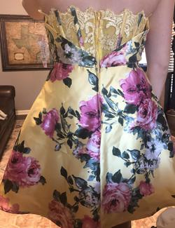 Teeze me Yellow Size 10 Cocktail Strapless A-line Dress on Queenly