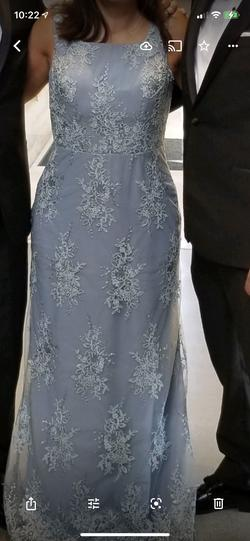 JJ House Light Blue Size 8 Wedding Guest Straight Dress on Queenly