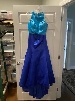 Sherri Hill Blue Size 6 Mermaid Dress on Queenly