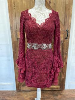 Mac Duggal Red Size 10 Interview Cocktail Dress on Queenly