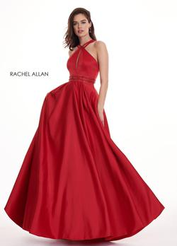 Style 6464 Rachel Allan Red Size 10 A-line Dress on Queenly