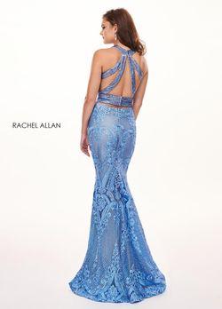 Style 6462 Rachel Allan Light Blue Size 0 Mermaid Dress on Queenly