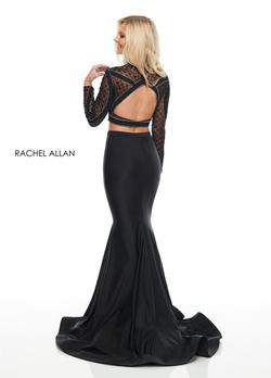 Style 7128 Rachel Allan Black Size 2 Pageant Sequin Jersey Mermaid Dress on Queenly