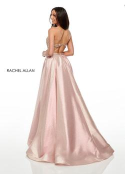 Style 7002 Rachel Allan Pink Size 0 Tall Height A-line Dress on Queenly