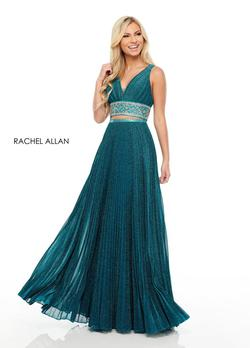 Style 7099 Rachel Allan Green Size 4 Two Piece A-line Dress on Queenly