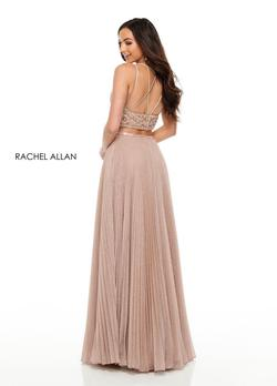 Style 7099 Rachel Allan Light Pink Size 12 Two Piece A-line Dress on Queenly