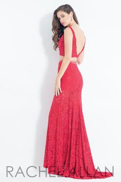 Style 6213 Rachel Allan Red Size 0 Two Piece A-line Mermaid Dress on Queenly