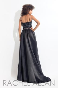 Style 6104 Rachel Allan Black Size 6 Silk Jumpsuit Dress on Queenly