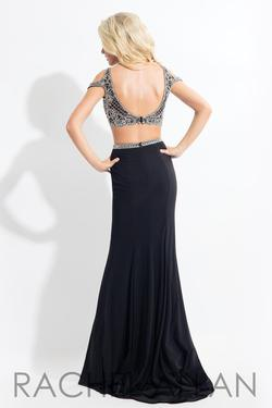 Style 6058 Rachel Allan Black Size 0 Tall Height Sequin Side slit Dress on Queenly
