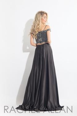 Style 6020 Rachel Allan Black Size 4 Embroidery Beaded Top Two Piece Pageant A-line Dress on Queenly