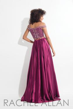 Style 6020 Rachel Allan Pink Size 12 Plus Size Pageant Magenta A-line Dress on Queenly