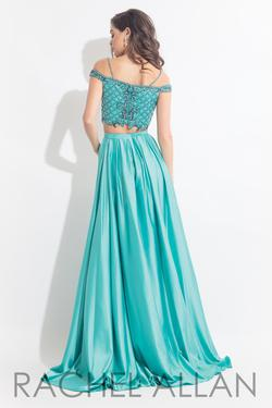 Style 6020 Rachel Allan Green Size 8 Pageant Tall Height A-line Dress on Queenly