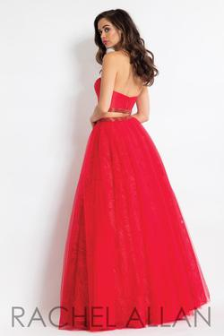 Style 6096 Rachel Allan Red Size 4 Two Piece Pageant Ball gown on Queenly