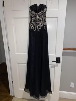 Tony Bowls Black Size 2 Prom Beaded Top Pageant Straight Dress on Queenly