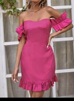 Bardot dress Hot Pink Size 10 Sorority Formal A-line Dress on Queenly