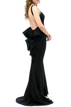 Style XS8305 Xscape  Black Size 8 Mini Mermaid Bodycon Straight Dress on Queenly